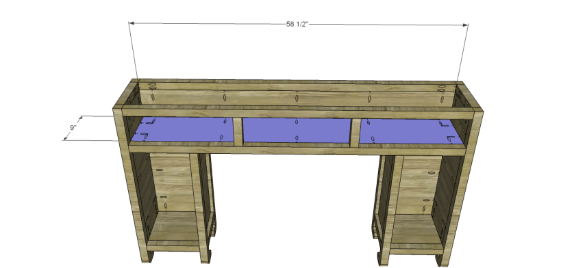 shanghai console table plans-Drawer Shelf