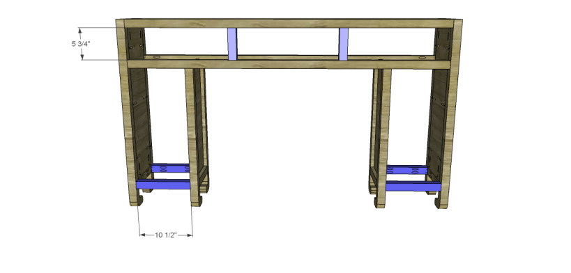 shanghai console table plans-Stretchers Dividers