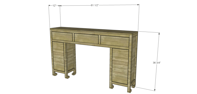 shanghai console table plans