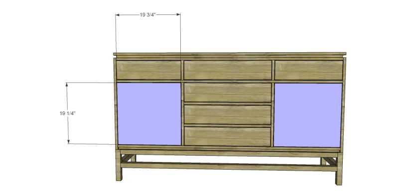 plans build esmerelda buffet-Doors
