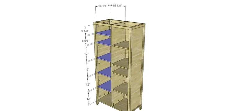 Allie Armoire Cabinet Plans-Shelves 2