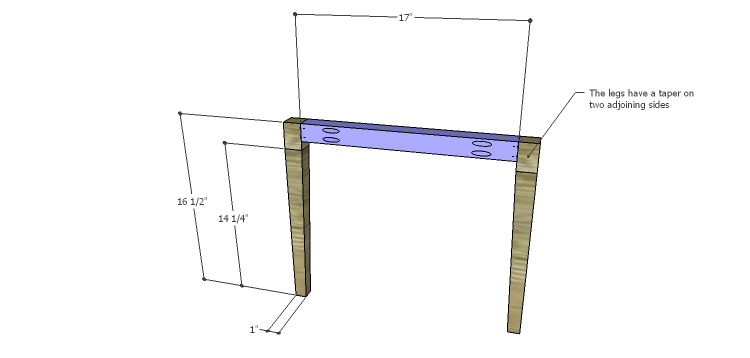 Luna Dining Chair Plans-Front Frame
