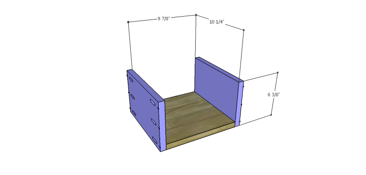 Miriam Console Table Plans-Drawer BS