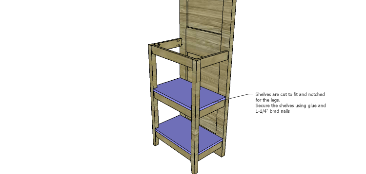Plans to Build a Table using an Old Door-Shelves