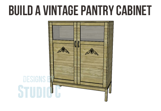 Diy vintage pantry cabinet plans for Kitchen pantry cabinet plans