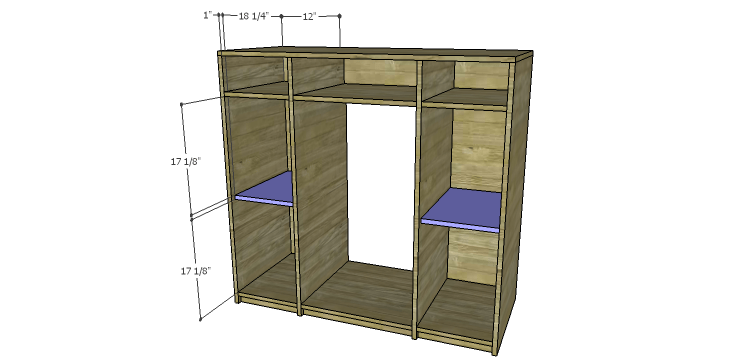 DIY Mini Fridge Cabinet Plans-Shelves