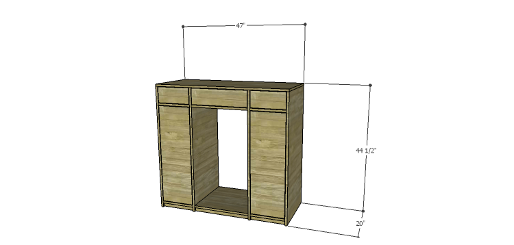 DIY Mini Fridge Cabinet Plans