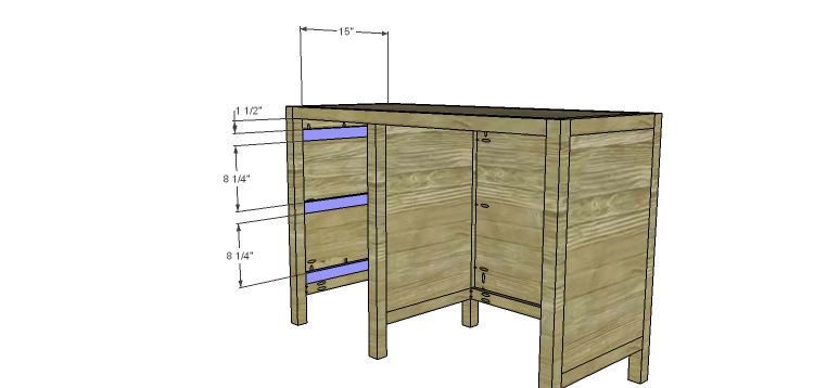 DIY Plans to Build a Vintage Style Desk-drawerspacers