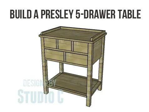 Presley 5-Drawer Table Plans-Copy