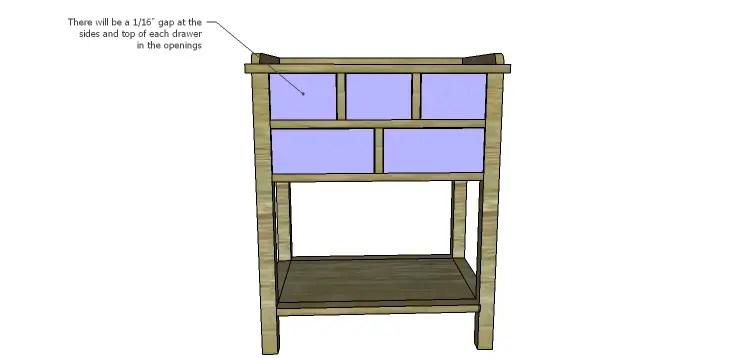 Presley 5-Drawer Table Plans-Drawers