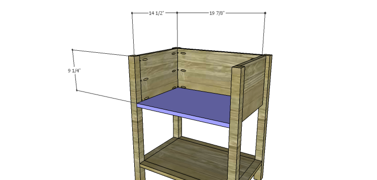 Presley 5-Drawer Table Plans-Lower Shelf