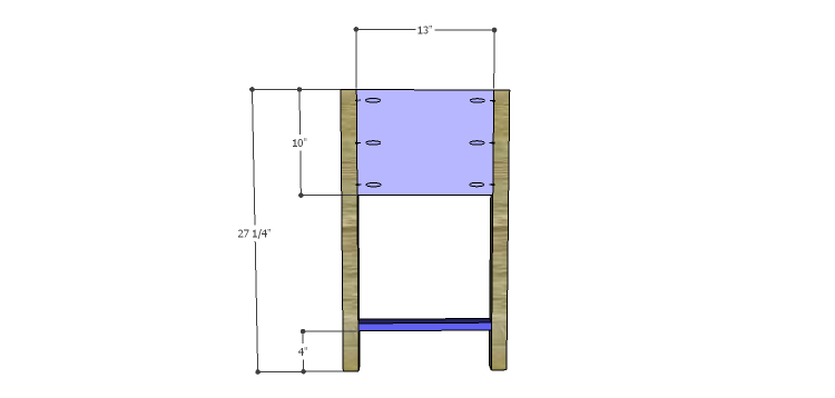 Presley 5-Drawer Table Plans-Sides