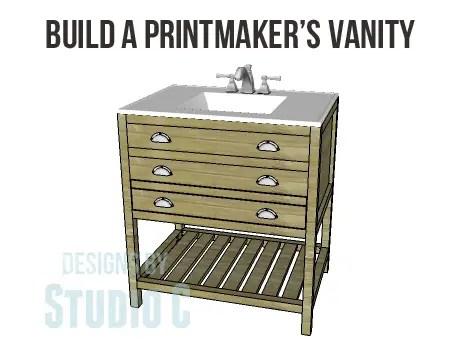 diy plans to build a printmaker s vanity