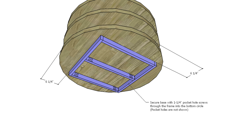 DIY Plans to Build a Round Shelf Coffee Table_Base 2
