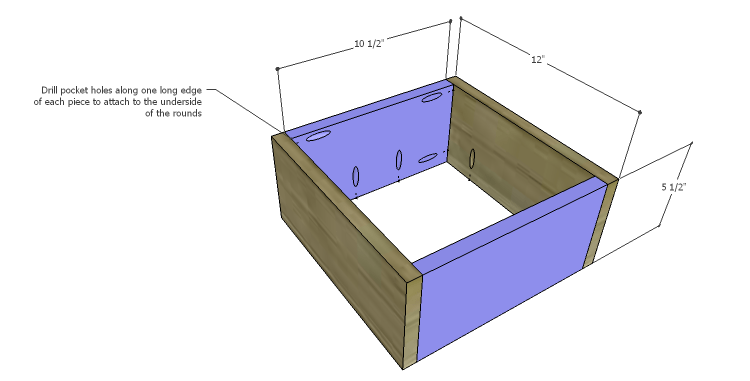 DIY Plans to Build a Round Shelf Coffee Table_Frame 1a