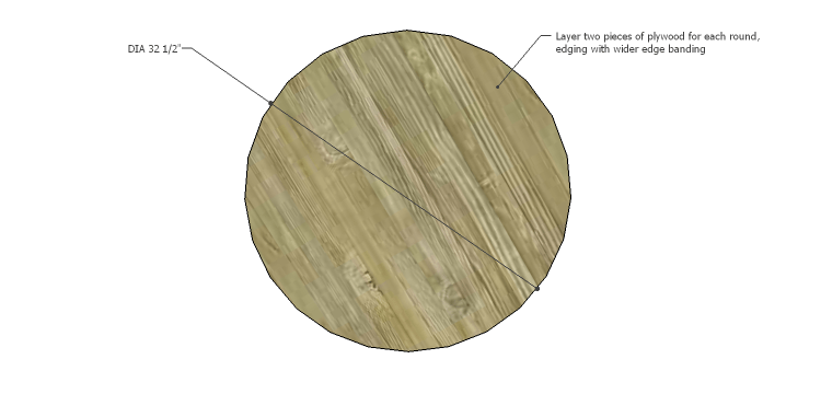 DIY Plans to Build a Round Shelf Coffee Table_Round 1