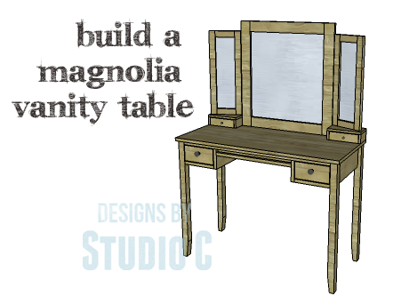 diy plans to build a magnolia vanity table. Black Bedroom Furniture Sets. Home Design Ideas