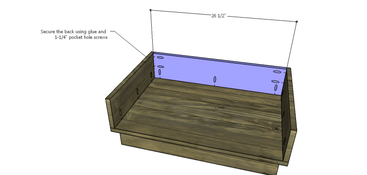 DIY Plans to Build the Ava Chest of Drawers_Drawer Box Back