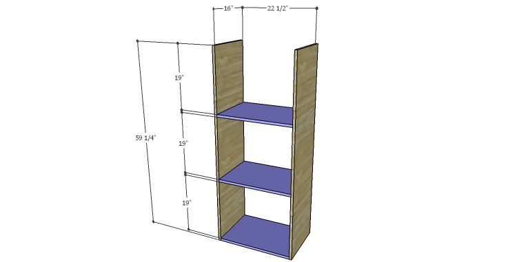 DIY Plans to Build a Daisy Bookcase_Sides & Shelves