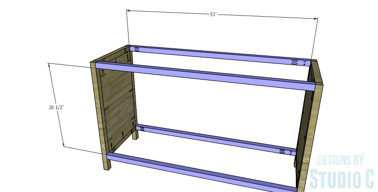 DIY Plans to Build a Mosaic Cabinet_Stretchers