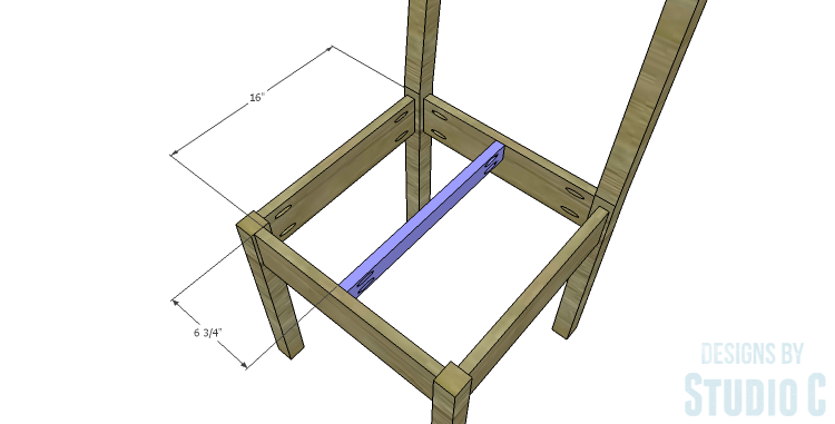 DIY Plans to Build a Weatherford Dining Chair_Seat Support