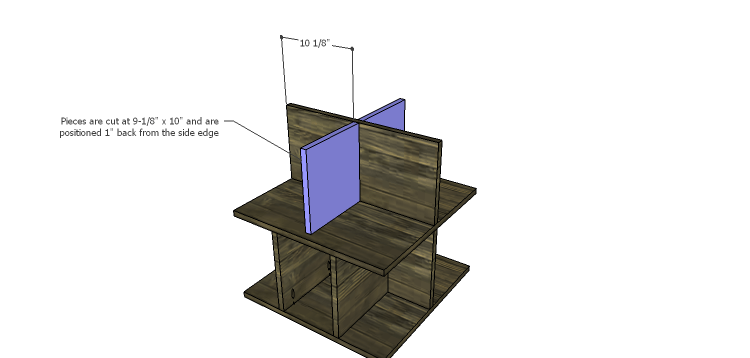 DIY Plans to Build a Warner Storage Shelf_Upper Dividers 2