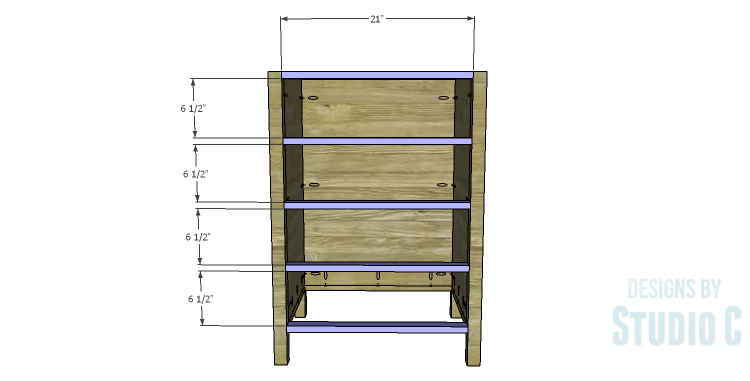 DIY Plans to Build a Matteo Drawer Cabinet_Stretchers
