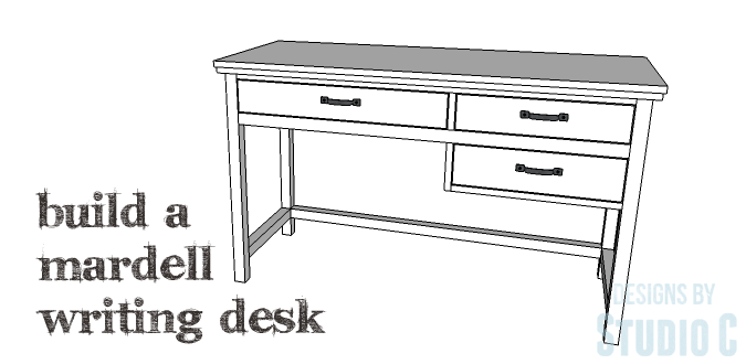 DIY Plans to Build a Mardell Writing Desk
