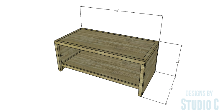 DIY Plans to Build a Simply Classic Coffee Table