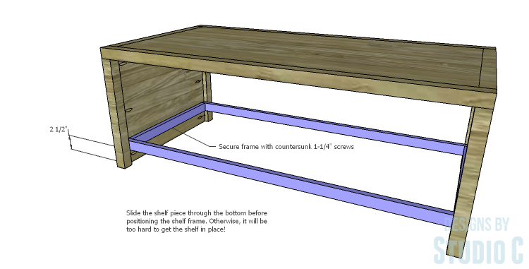 DIY Plans to Build a Simply Classic Coffee Table_Shelf Frame 2