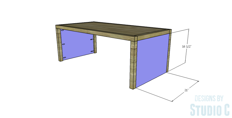 DIY Plans to Build a Simply Classic Coffee Table_Side Panels