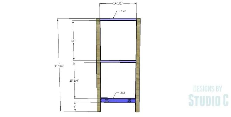 DIY Plans to Build a Frances Buffet_Center Leg Frame
