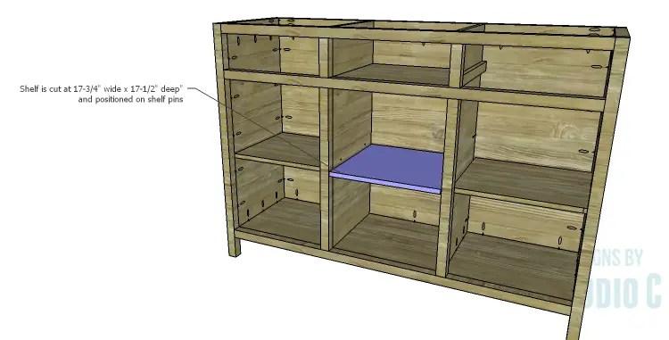 DIY Plans to Build a Doyle Cabinet_Center Shelf
