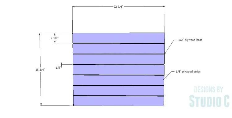 DIY Plans to Build a Carney Media Stand_Door Slats