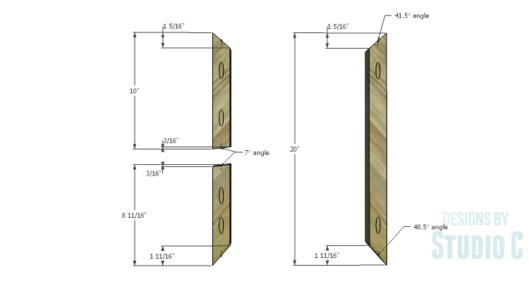 DIY Plans to Build a Riley End Table_Sides 1