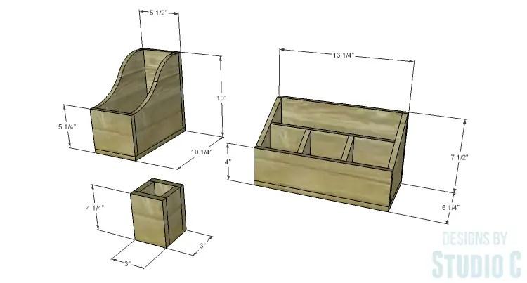 DIY Plans to Build Desk Organizers
