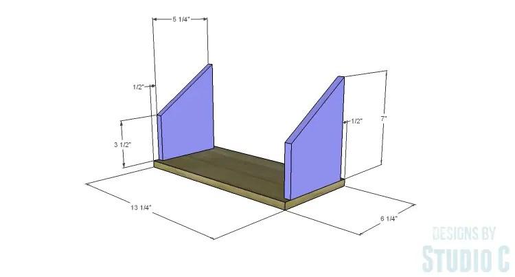 DIY Plans to Build Desk Organizers_Caddy Sides