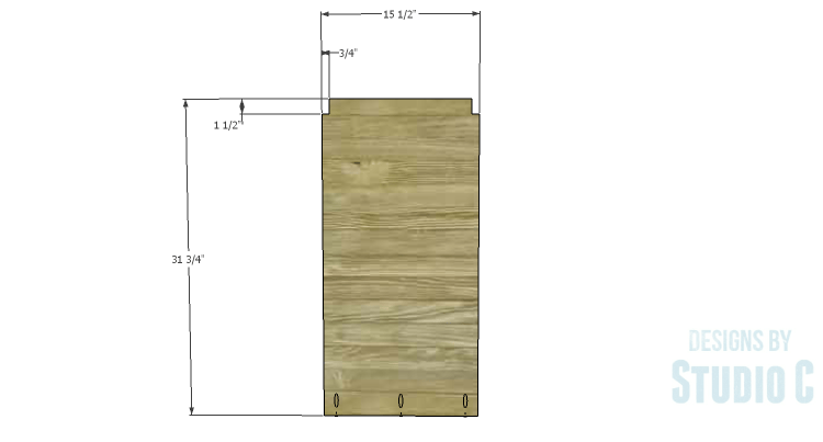 DIY Plans to Build an Arden Buffet_Sides 1