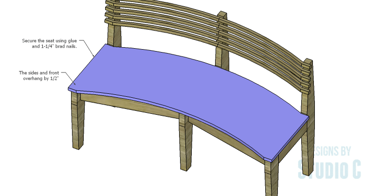 how to build a curved deck bench