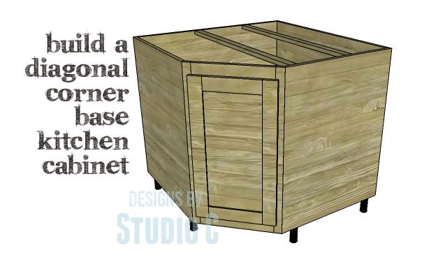 Diy plans to build a diagonal corner base kitchen cabinet for Base corner kitchen cabinets