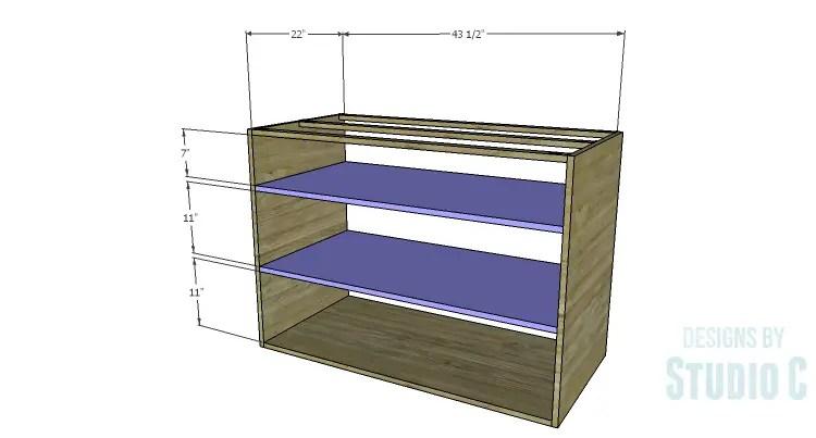 DIY Plans to Build an Eckhart Kitchen Island_Shelves
