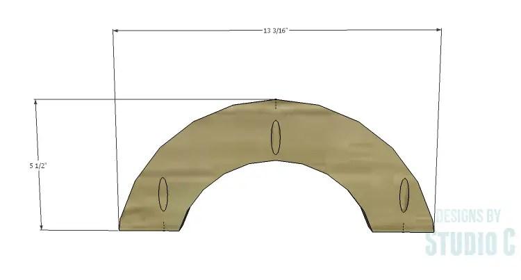 DIY Plans to Build a Circle Bookcase_Half Circle