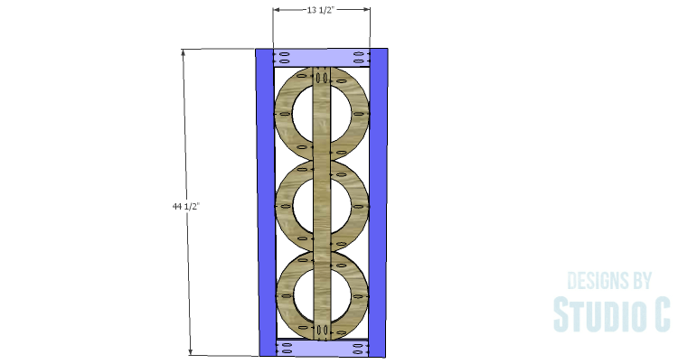 DIY Plans to Build a Circle Bookcase_Outer Side Frames