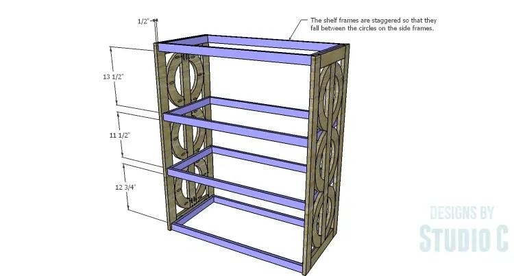 DIY Plans to Build a Circle Bookcase_Shelf Frames 2