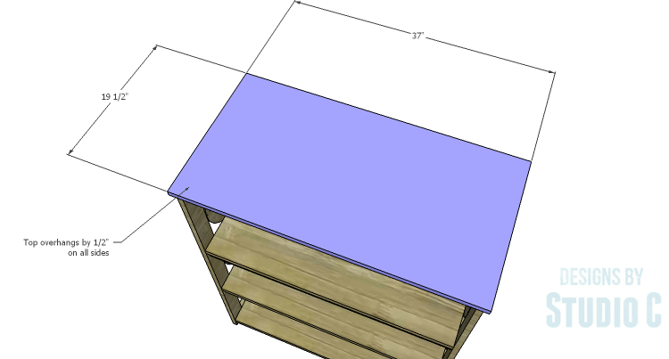 DIY Plans to Build a Circle Bookcase_Top