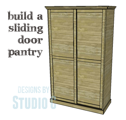 Diy plans to build a sliding door pantry for How to make a sliding door