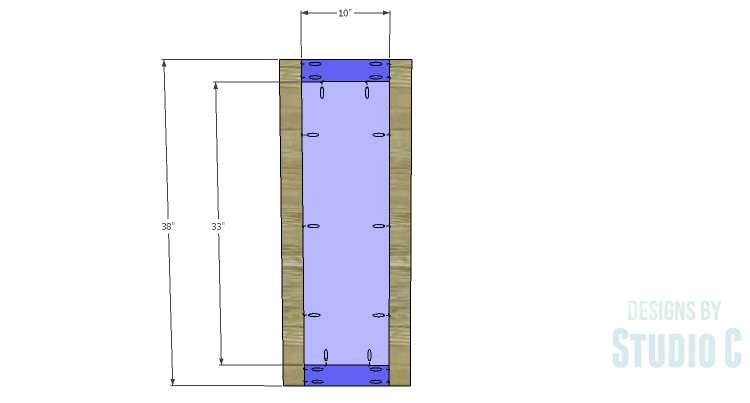 DIY Plans to Build a Tall Diagonal Face Upper Corner Cabinet_Door 1