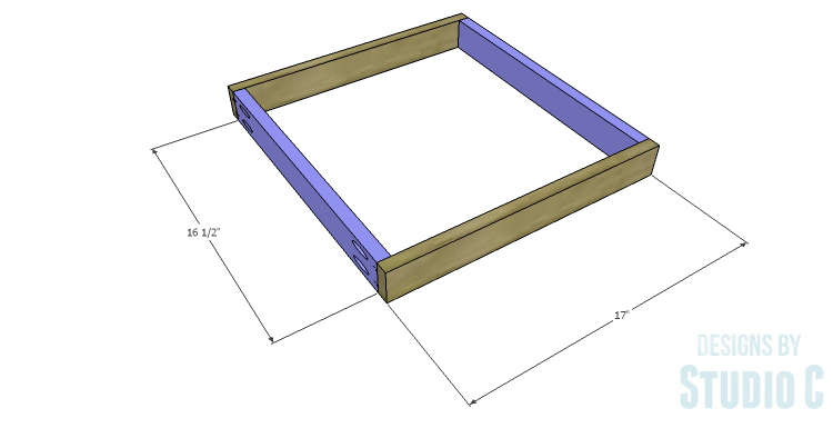 DIY Plans to Build a Desk with an Old Door_Drawer Box