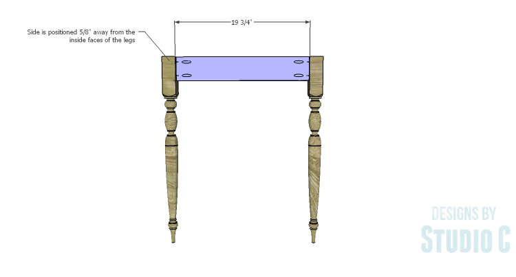 DIY Plans to Build a Desk with an Old Door_Sides