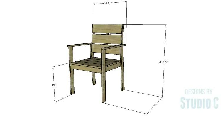DIY Plans to Build a Quinn Outdoor Chair